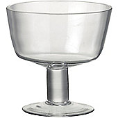 Parlane Stylish Glass Footed Bowl - 14.5 x 15cm