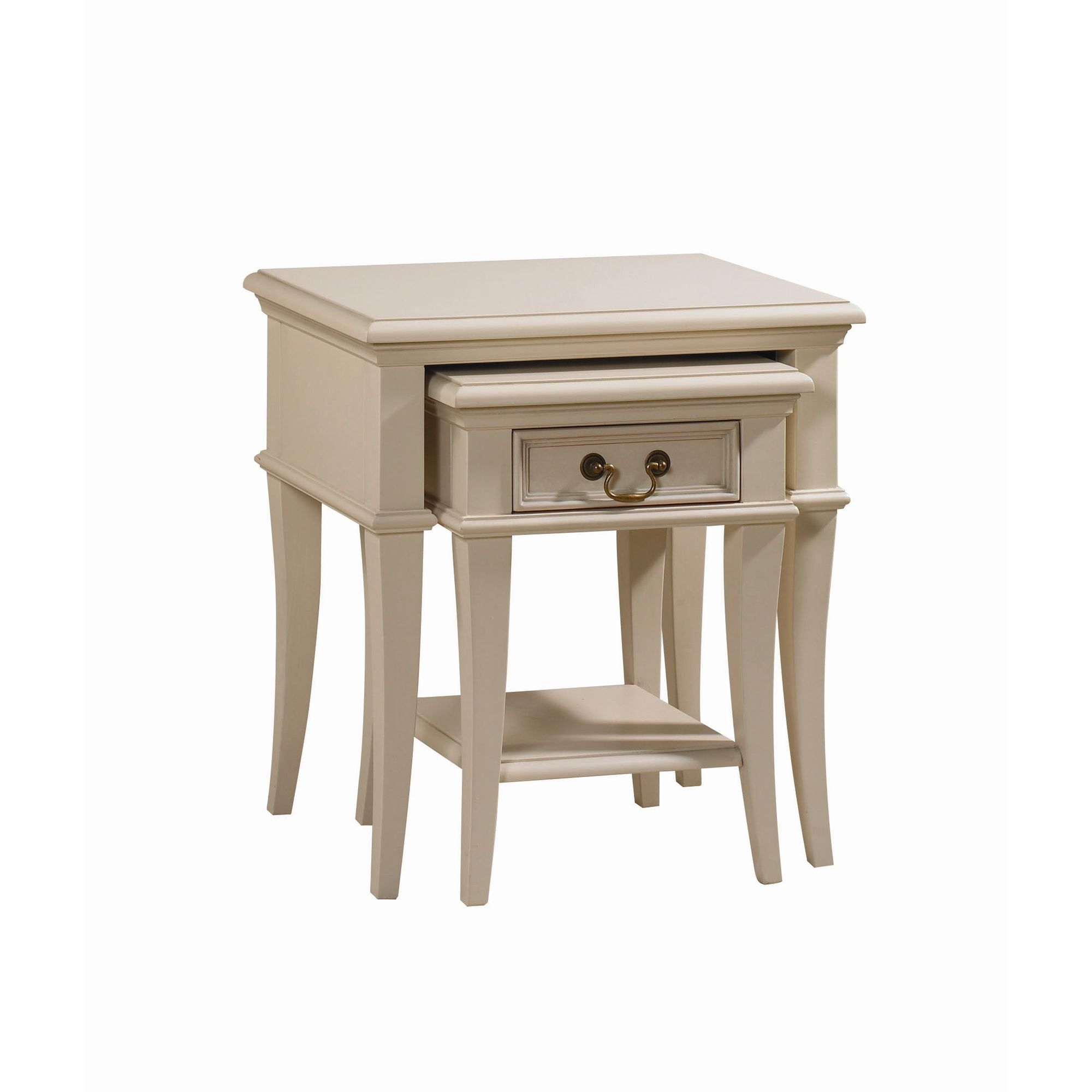 YP Furniture Country House Nest of Two Tables - Oak Top and Ivory at Tesco Direct