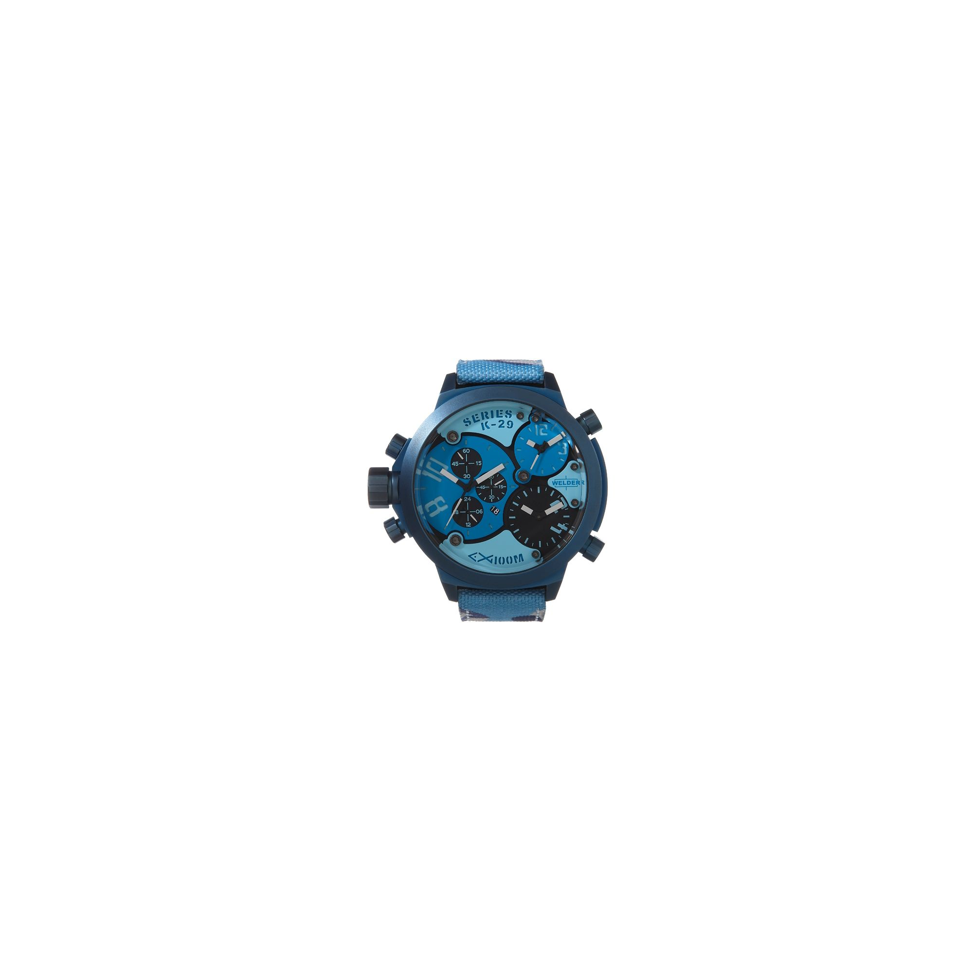 Welder Gents Blue Dial Camouflage Material Strap Watch K29-8006 at Tesco Direct