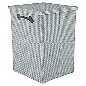 Foldable Grey Hand Woven Laundry Hamper
