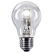 Philips EcoClassic Halogen A55 42 W E27 Edison Screw Warm White Light Bulb