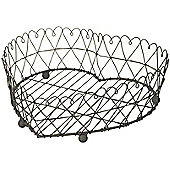 Parlane Shabby Chic Metal Wire Heart Basket - 11 x 30cm