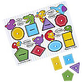 Melissa & Doug - Large Wooden Shapes Peg Puzzle