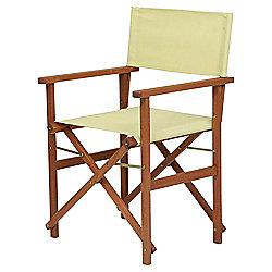 Wooden Folding Director's Chair, Light Green