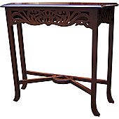 Lock stock and barrel Mahogany Fretwork Carved Console Table in Mahogany