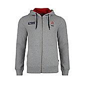 England Rugby Number 15 Zip Up Hoody - Grey