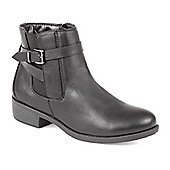 Pavers Ankle Boot with Buckle - Black