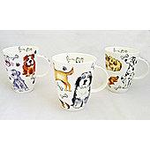 Roy Kirkham Dog Tales Mugs, Set of 3