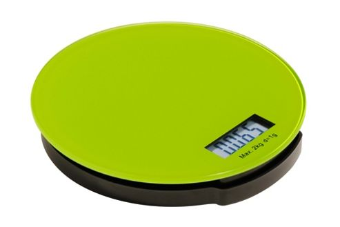 Premier Housewares Zing Round Glass Electronic Kitchen Scale - Lime Green
