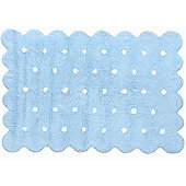 Lorena Canals Galleta Blue Children's Rug - 120 cm W x 160 cm D (3 ft 11 in x 5 ft 3 in)