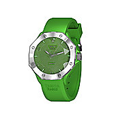 Tresor Paris Watch - ISL - Stainless Steel Bezel & Crystal Dial - Green Silicone Strap - 36mm
