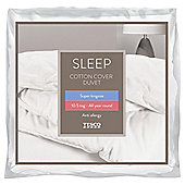 Tesco Cotton Cover 10.5 Tog Anti Allergy Duvet, Superking