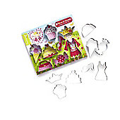Cooksmart Kids 8 Piece Princess Cupcake Cookie Cutter Set