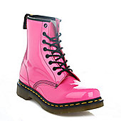 Dr. Martens Womens Hot Pink 1460 Patent Lamper Ankle Boots - Pink