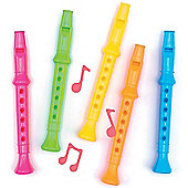 Colourful Flutes (Pack of 6)