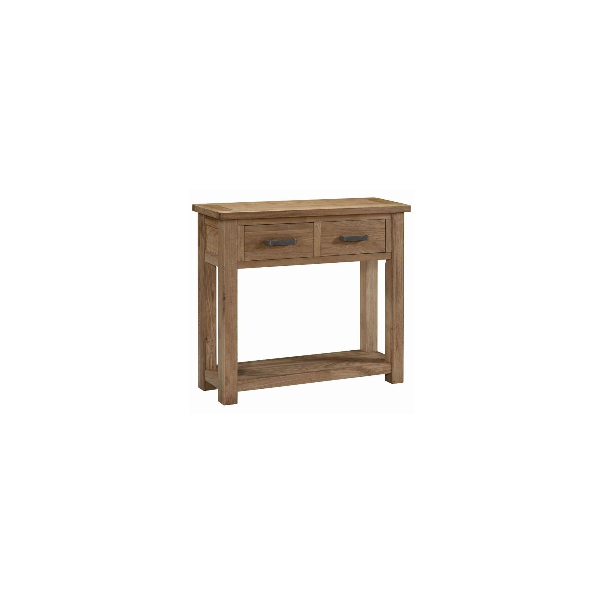 Kelburn Furniture Lyon Console Table in Light Oak Matt Lacquer