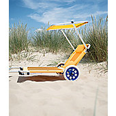 Roll on summer - Lemon Zest Yellow Sun Lounger Trolley