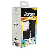 Energizer Lightening Cable & 2.1amp mains charger