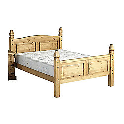 """Home Essence Corona High Foot End Bed Frame - Double (4' 6"""")"""