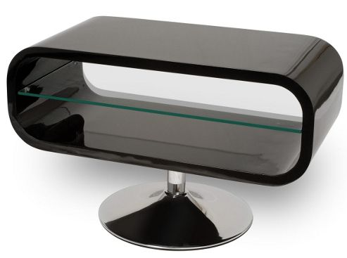 Opod Piano Black and Clear Glass Stand for TVs up to 32 inch