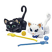 Pet Parade Twin Kitten Pack - Black Cat and Persian