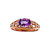 QP Jewellers 1.15ct Amethyst Catalan Filigree Ring in 14K Rose Gold