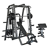 Bodymax CF484/CF680T Deluxe Full Linear Smiths System incl 210lb/95Kg Weight Stack