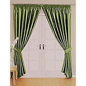 Como Ready Made Lined Curtains - Green