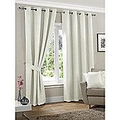 KLiving Neva Blackout Eyelet Curtains 90x72 - Cream (229x183cm)