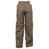 Regatta Boys Warlock II Zip Off Walking Trousers - Green