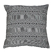 McAlister Smooth Touch Cushion Black Geometric Design