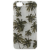 Tortoise Hard Protective Case,iPhone 6, Clear with Palm Tree Print.