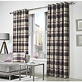 Curtina Belvedere Lined Plum Curtains - 66x90 Inches