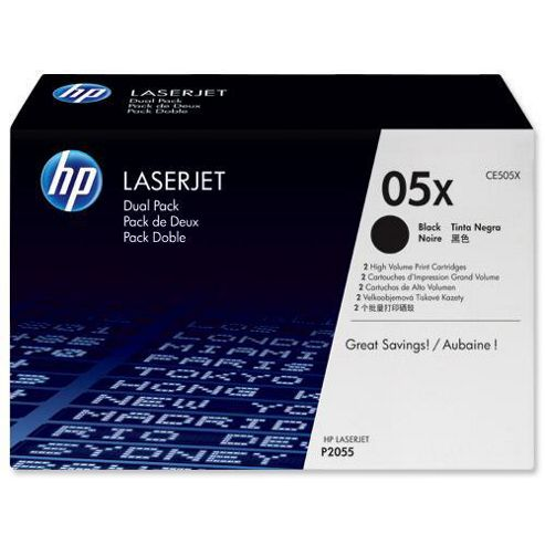 Hewlett-Packard 05X Smart Print Cartridge Dual Pack for LaserJet P2055 - Black