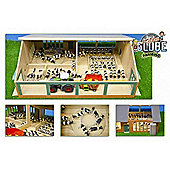 Wooden Cow Shed With Milking Carousel