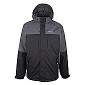 Jump Mens Snowboarding Skiing Insulated Snowproof Multi-Pockets Ski Jacket - Black