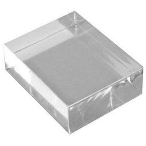 Clear Acrylic Stamp Block 25mm x 32mm x 10mm deep
