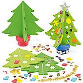 3D Foam Christmas Tree Kits for Children (4 Pcs)
