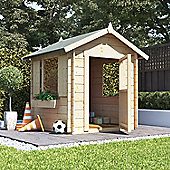 Mad Dash Log Cabin Wooden Playhouse, 4ft x 4ft