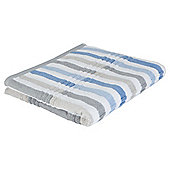 Tesco Multi Stripe Bath Towel Blue