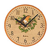 Outside In Robin Wall Clock 8in