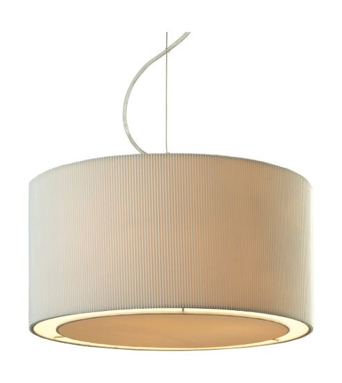 Firstlight Clio 3 Light Pendant in Chrome - Cream