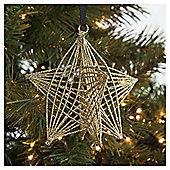 Tesco 3D Star Hanging Decoration