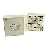 Button Corner Paperwrap Keepsake Box - Cream