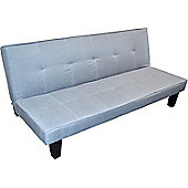 Harbour Housewares Folding Sofa Bed With 3 Positions. Grey / Blue