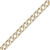 Jewelco London 9ct Solid Gold hand polished & lizard finish heavy weight Curb Bracelet