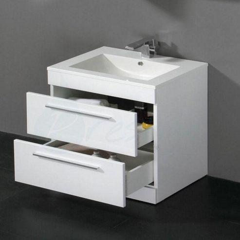 Buy Prestige Paris Floor Mounted Vanity Unit Built In Basin 800mm High X 600mm Wide Gloss