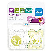 Mam Clear Soother 0+ X2