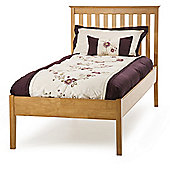 Serene Furnishings Grace Low Foot End Bed - Single - Golden Cherry with Opal White