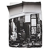 Tesco New York Print Duvet Cover And Pillowcase Set, - Multi